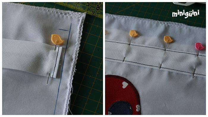 Coser pasacordón a la bolsa