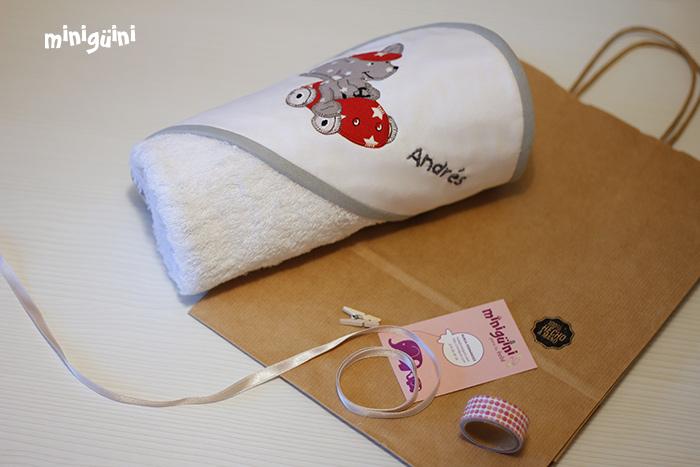 Capa de baño para regalo