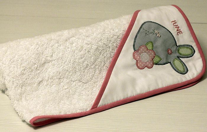 capa de baño conejito