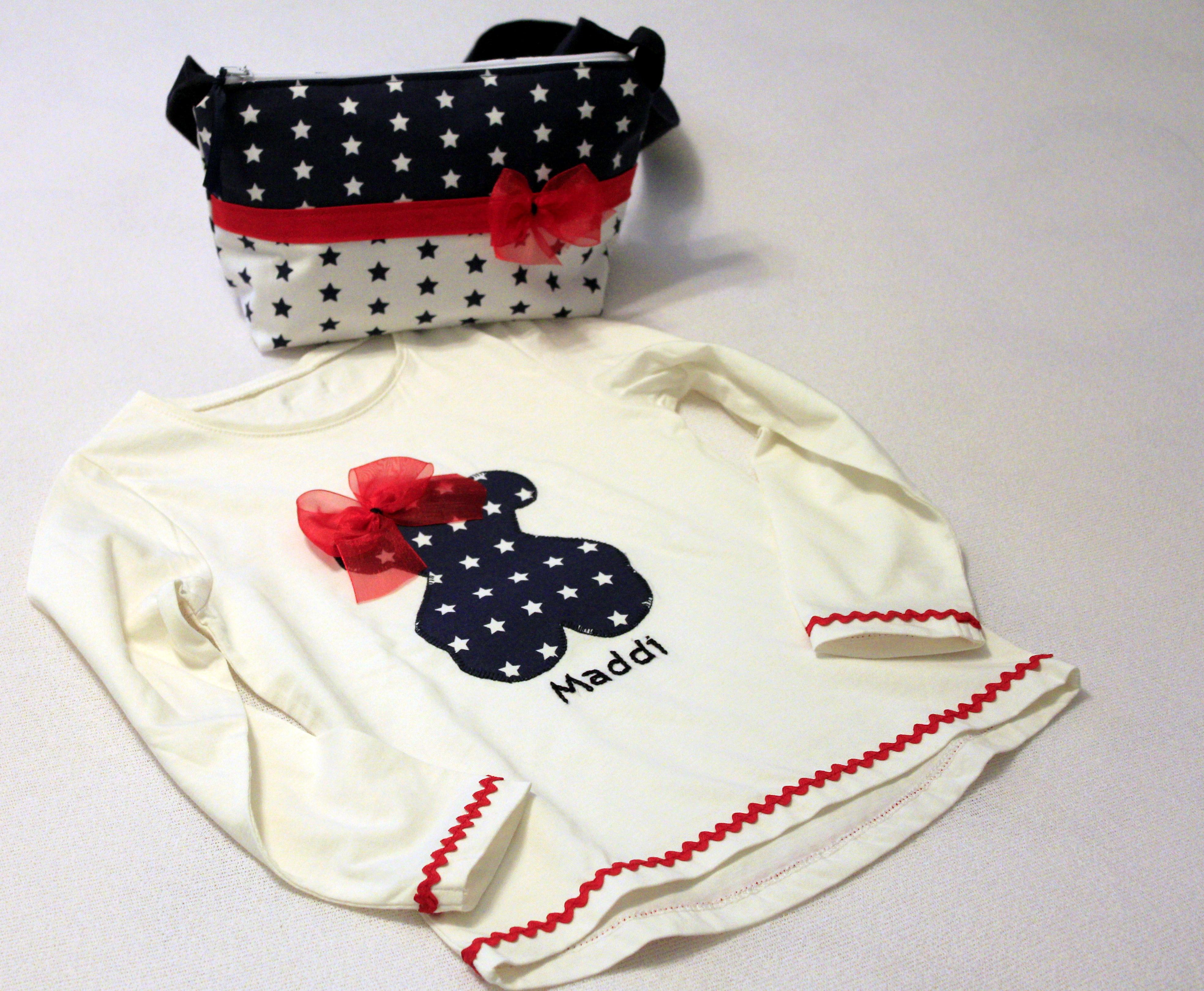 Conjunto de camiseta y bolso para niña